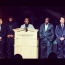 Yank Barry receiving the Humanitarian honor alongside Floyd Mayweather Jr. & other boxing greats.